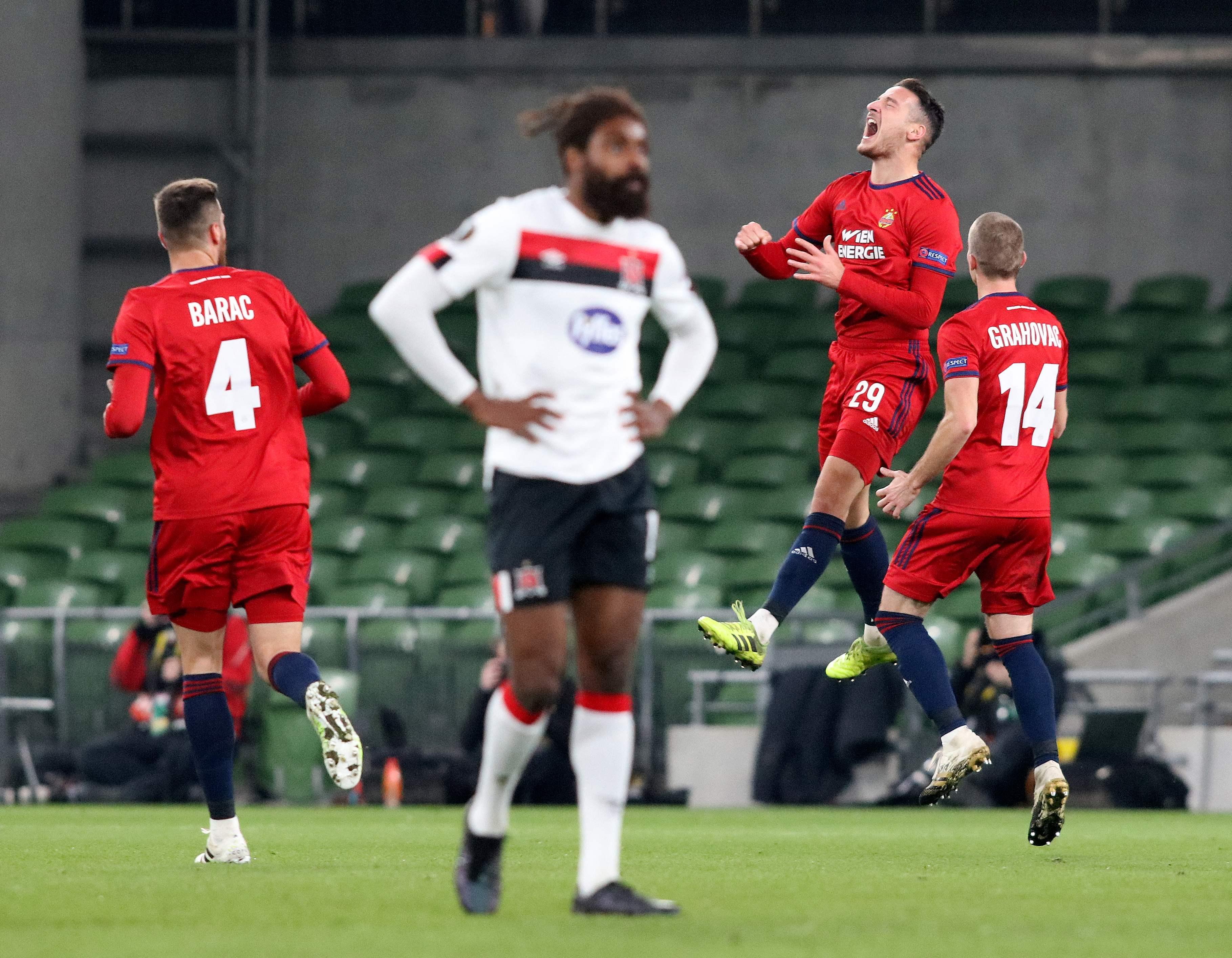 Europa League: Rapid siegt in Dublin und bucht Finale gegen Molde