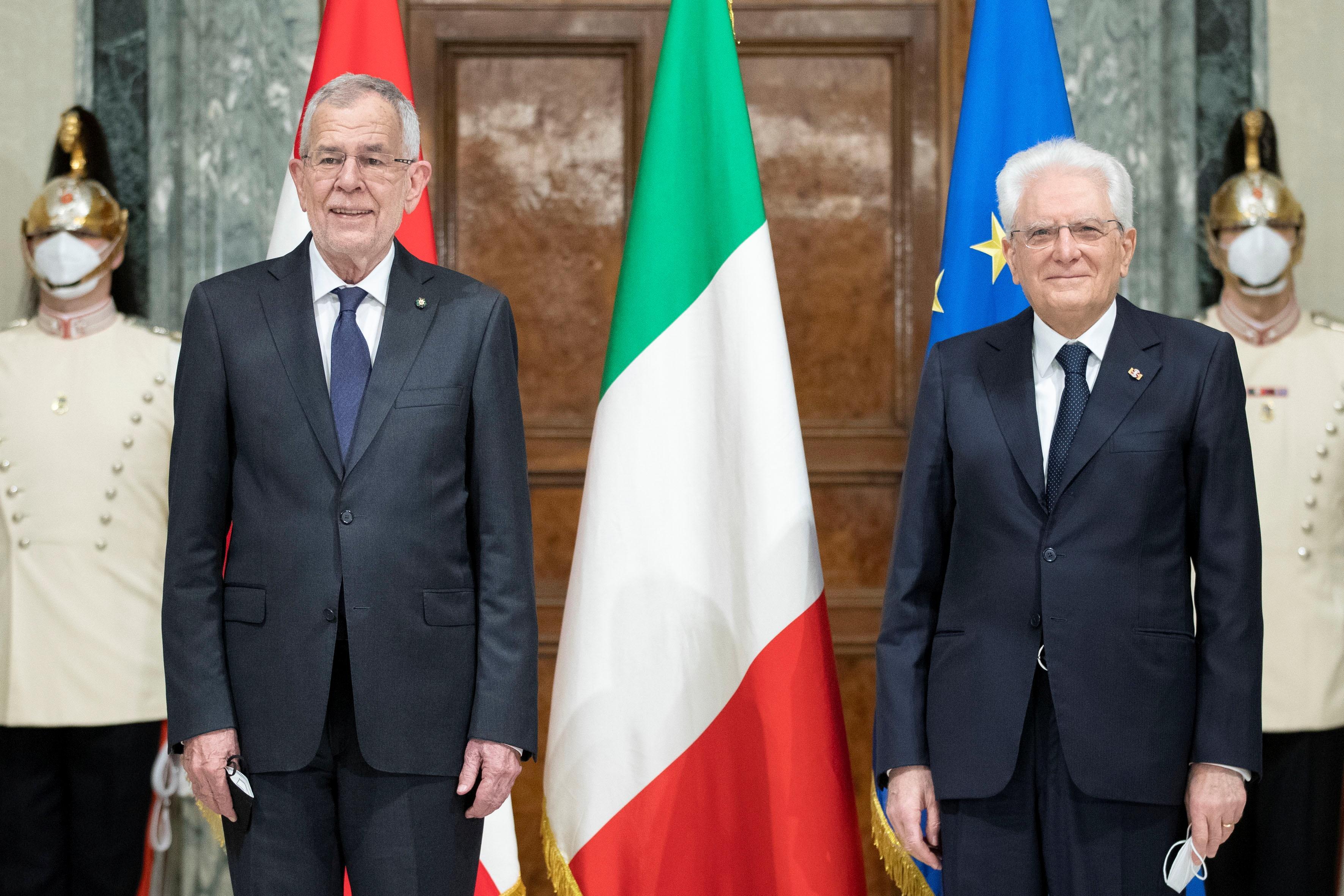 Italy's President Mattarella and Austria's President Van der Bellen meet in Rome
