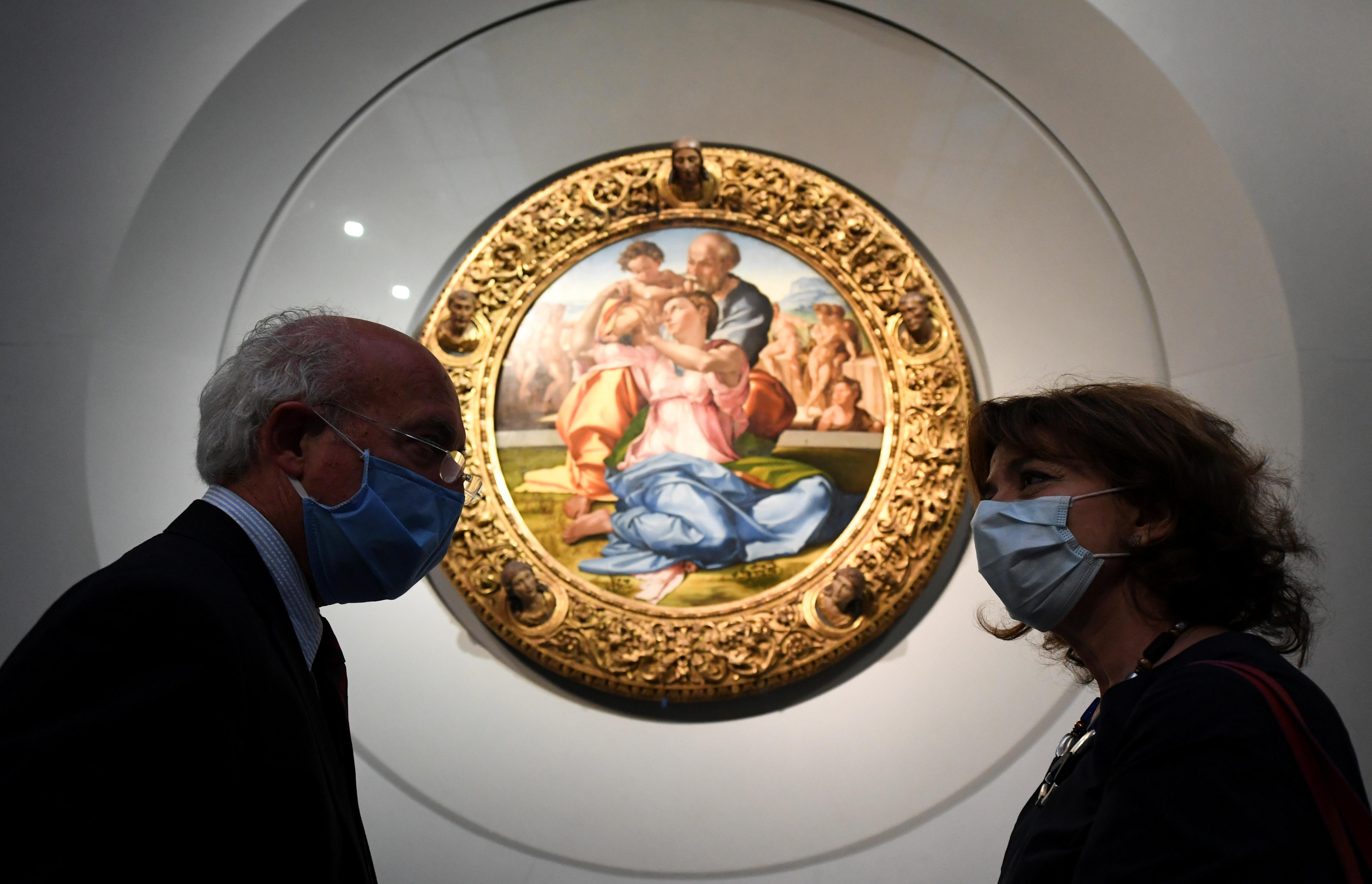 Reopening of the Uffizi Gallery after months of closure during the outbreak of the coronavirus disease (COVID-19) in Florence