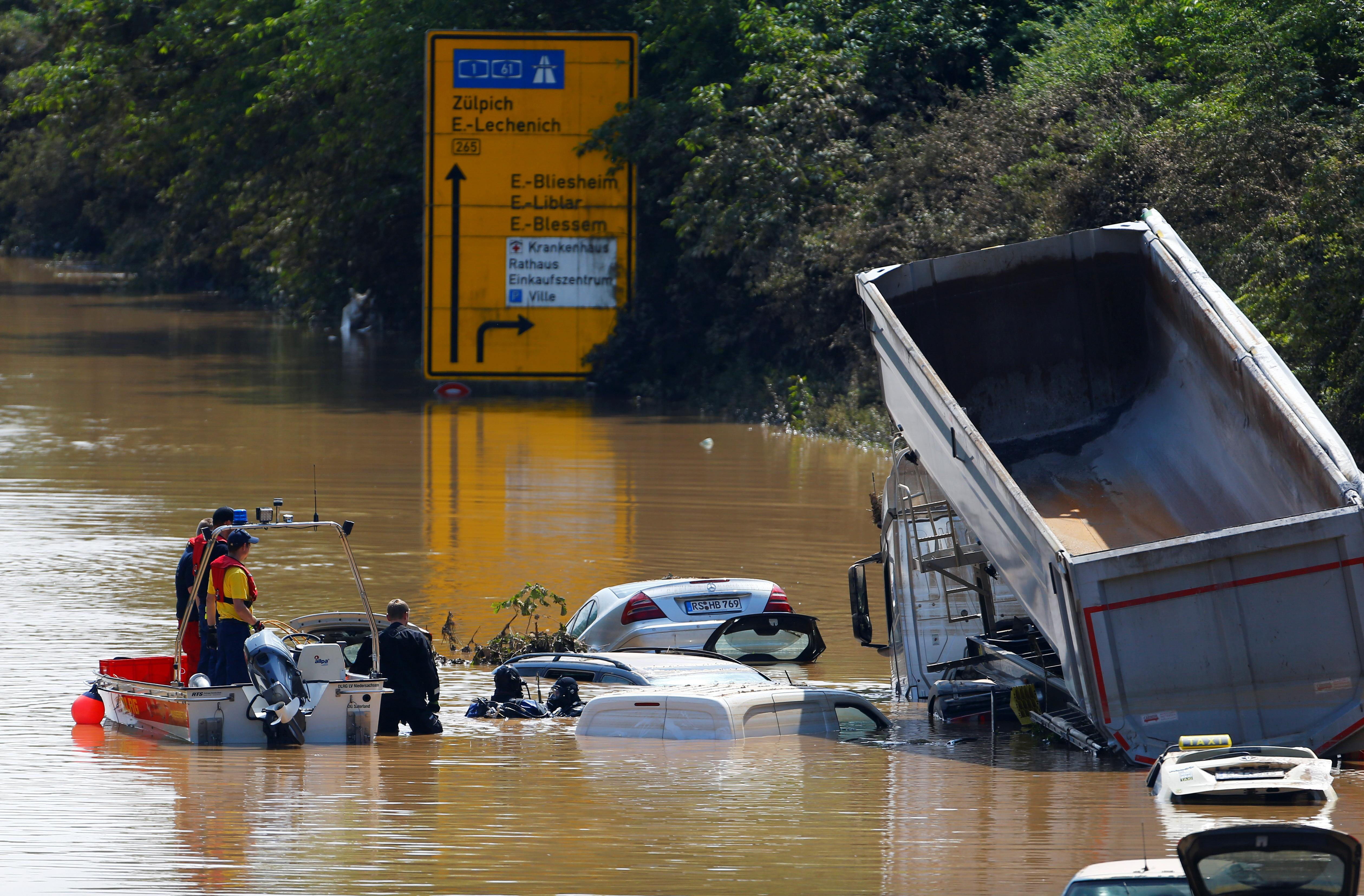 Aftermath of heavy rainfalls in Germany