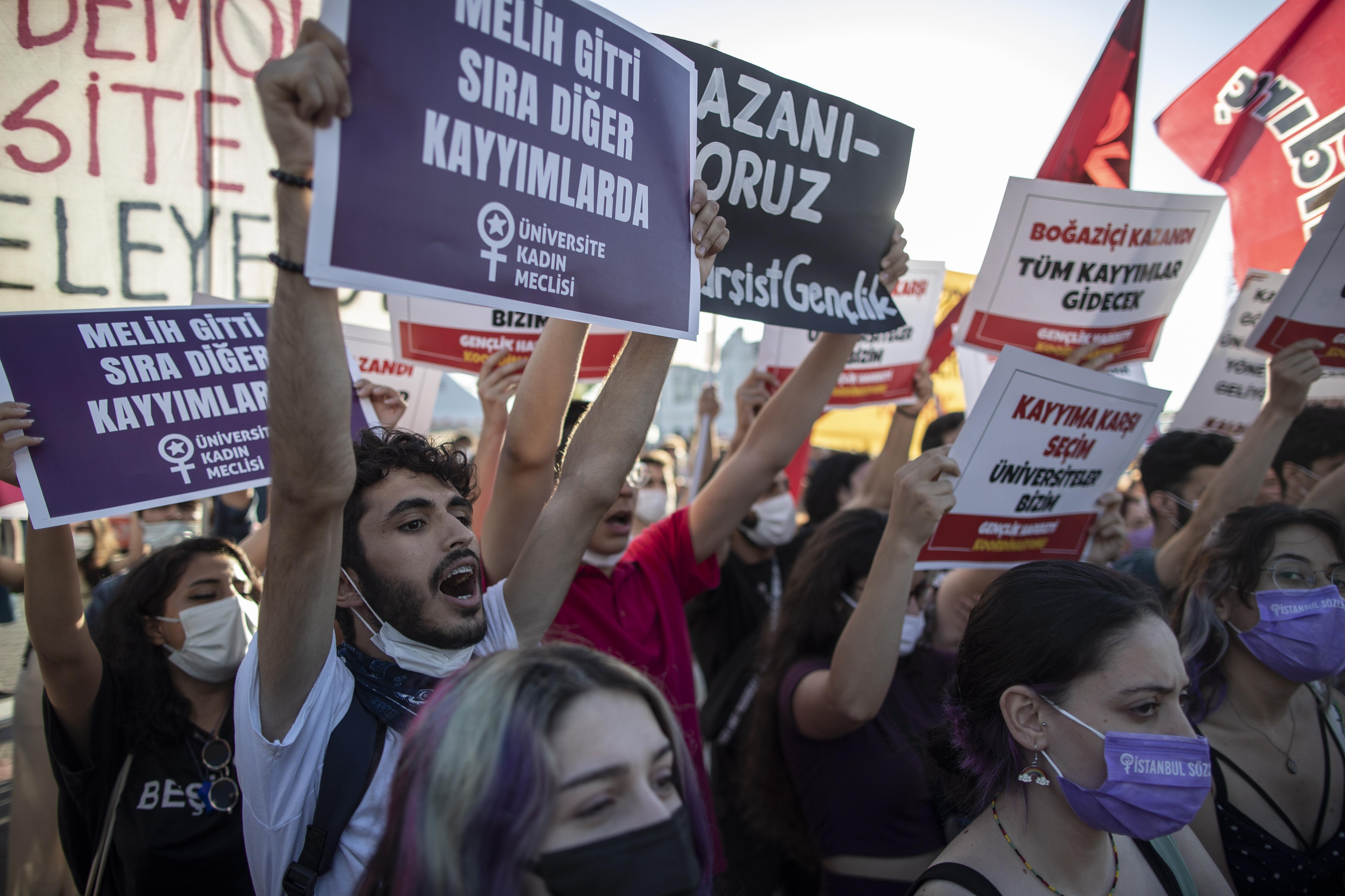 Protests against Bogazici University rector